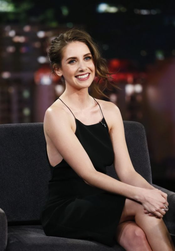 Alison Brie Appeared on JImmy Kimmel Live! 1/27/2016