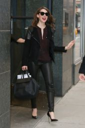 Alison Brie Style - Leaving The Andy Cohen Show in New York City 2/4/2016