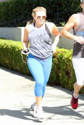 Alli Simpson in Leggings - Goes for a Morning Run Around Beverly Hills, February 2016