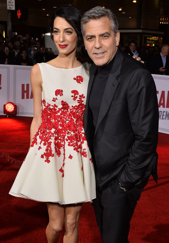 Amal Clooney and George Clooney -