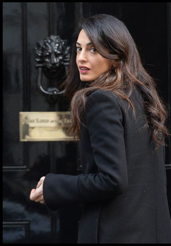 Amal Clooney - Out in London 2/22/2016