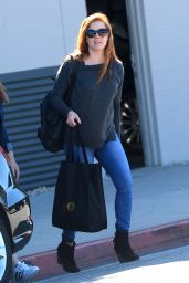 Amy Adams Casual Style - Leaving a Salon in West Hollywood, February 2016
