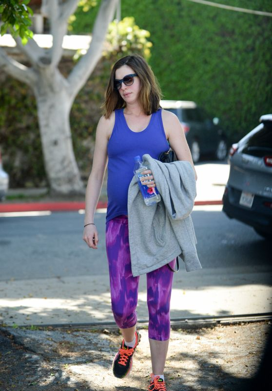 Anne Hathaway - Outside a Gym in West Hollywood, 2/24/2016