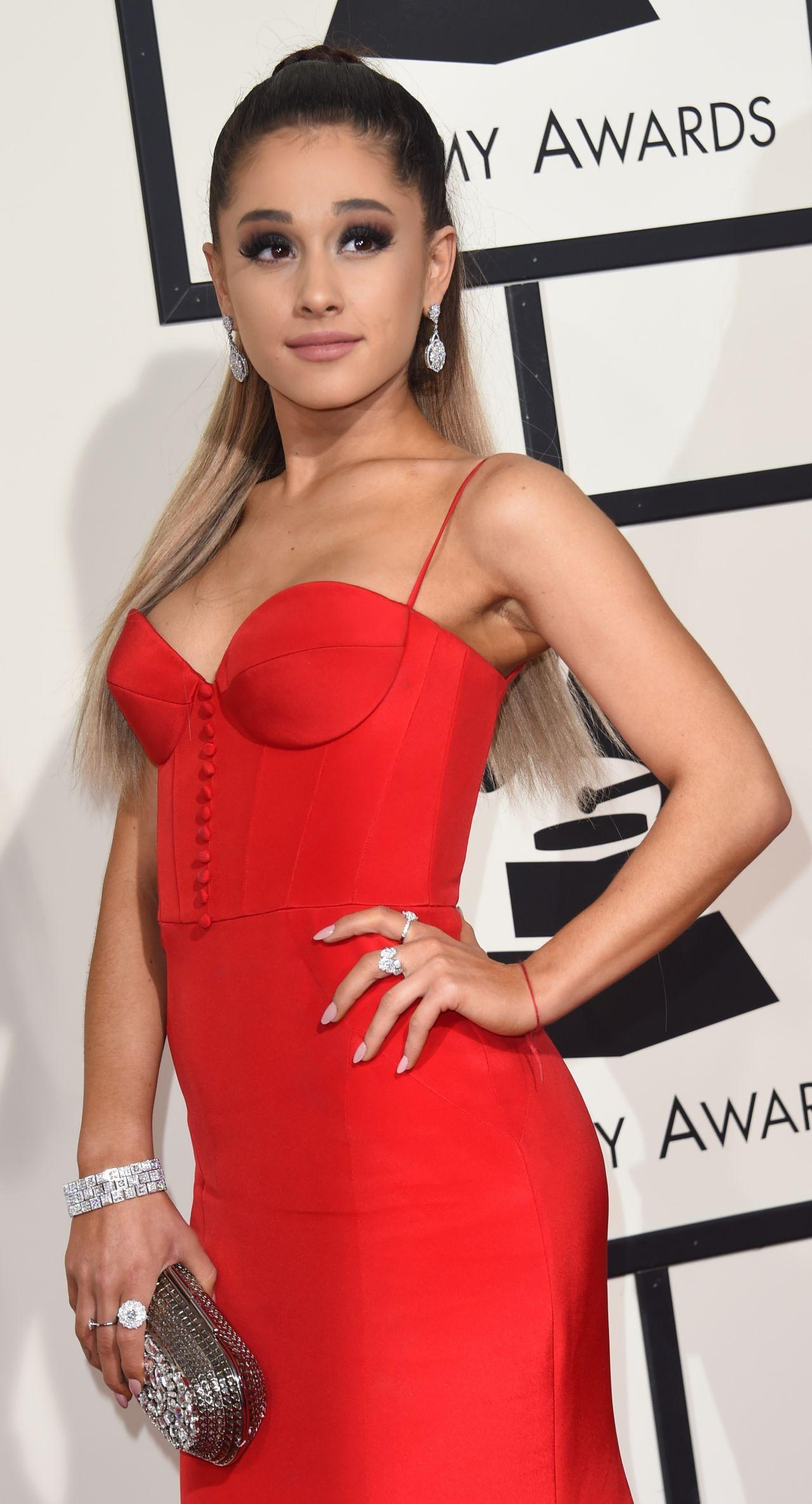Ariana Grande 2016 Grammy Awards In Los Angeles Ca