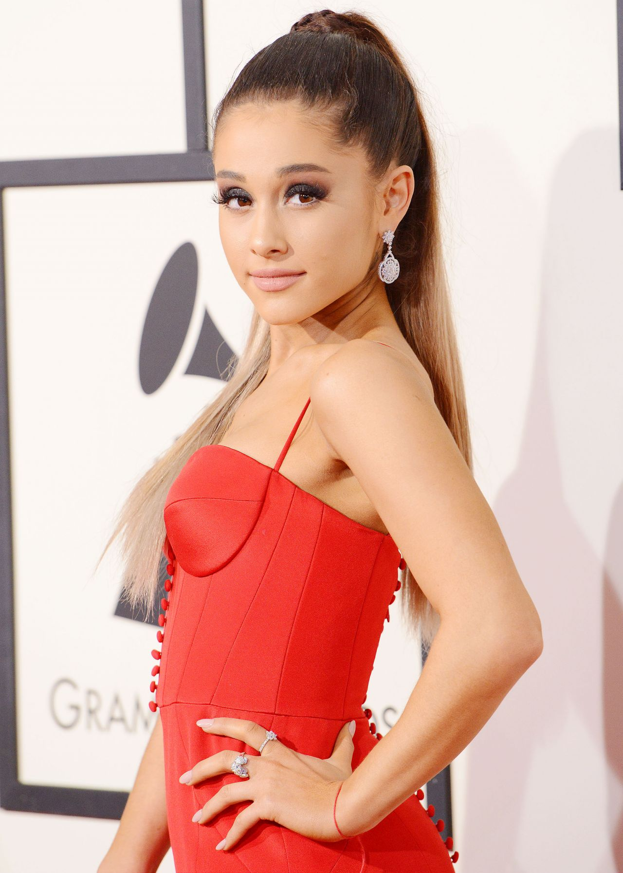 Ariana Grande 2016 Grammy Awards In Los Angeles Ca