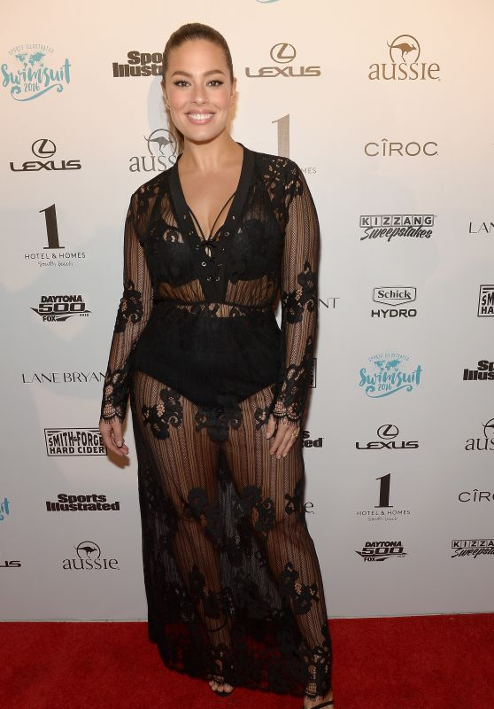 Ashley Graham – SI Swimsuit 2016 – Swim BBQ VIP in Miami, FL 2/17/2016