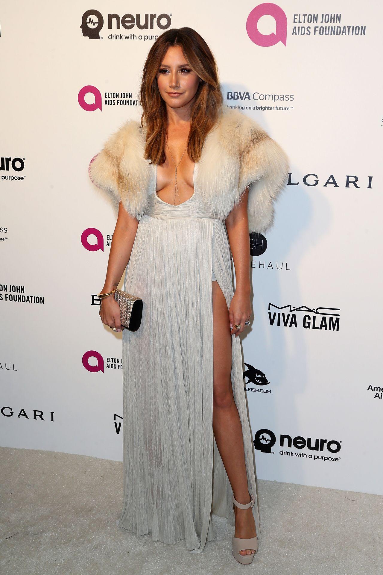 Ashley Tisdale 2016 Elton John Aids Foundation S Oscar