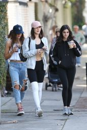 Bella Hadid Street Style - Out for Coffee in West Hollywood, CA 2/18/2016