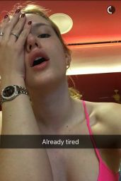 Bella Thorne Gym Style - Snapchat Pics 1/31/2016