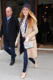 Blake Lively Casual Style - Leaving Her Hotel in New York 2/19/2016