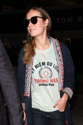 Brie Larson Airport Style - LAX in Los Angeles, CA 02/24/2016