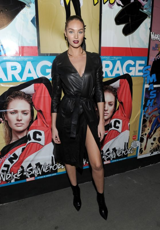 Candice Swanepoel - Marvel and Garage Magazine New York Fashion Week Event 2/11/2016