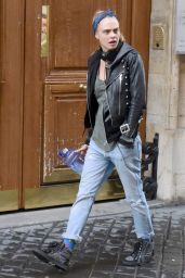 Cara Delevingne Street Style - Out in Paris, France 2/3/2016