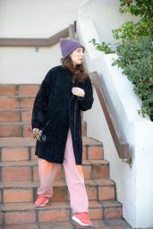 Carice van Houten Street Style - Leaves House in West Hollywood 2/17/2016