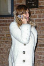 Carine Roitfeld - Talks on Her Cellphone - Out in New York City, February 2016