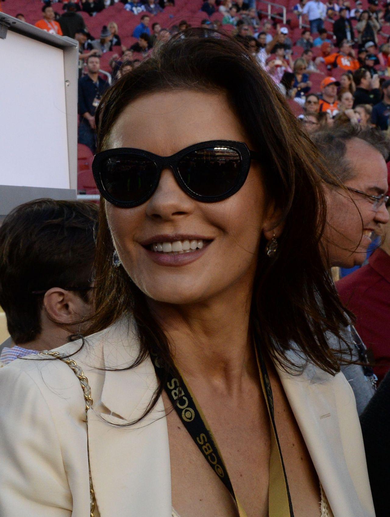 Catherine Zeta-Jones and Michael Douglas - Super Bowl 50 in Santa Clara, CA