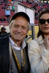 Catherine Zeta-Jones and Michael Douglas - Super Bowl 50 in Santa Clara, CA