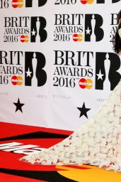 Charli XCX - BRIT Awards 2016 at O2 Arena Greenwich, London, UK