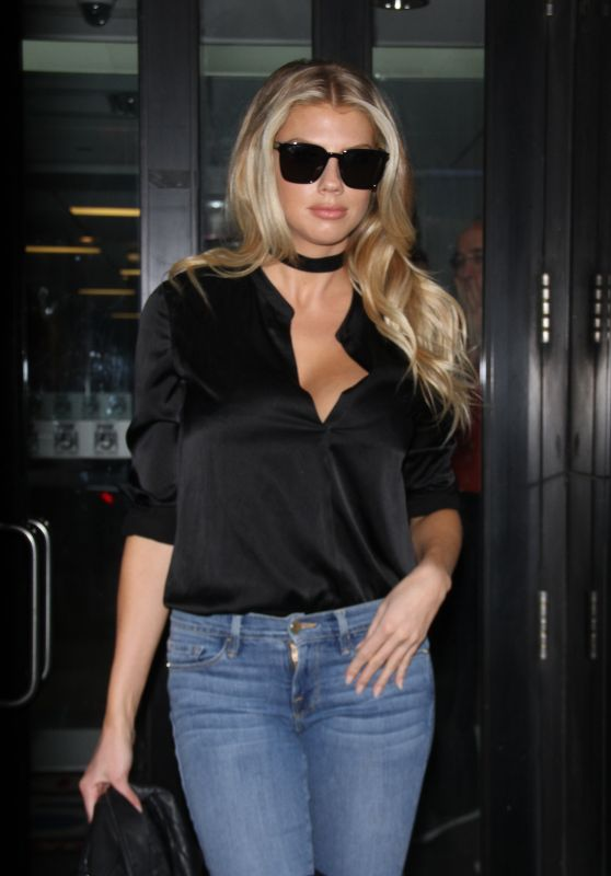 Charlotte McKinney Style - at Good Day New York in NYC, February 2016