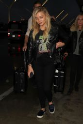 Chloë Grace Moretz Style - LAX Airport in Los Angeles 2/17/2016
