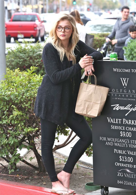 Chloe Moretz - Leaving a Nail Salon in Beverly Hills 1/30/2016