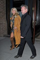 Christie Brinkley and John Mellencamp - Outside Tribeca Hotel in New York City 2/2/2016