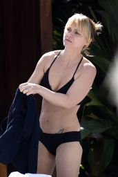 Christina Ricci in Black Bikini at a Pool in Miami, FL February 2016
