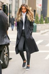 Ciara is Stylish - Out in NYC 2/11/2016