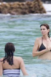 Cindy Crawford Bikini Candids - On the Beach in St. Barths 2/18/2016