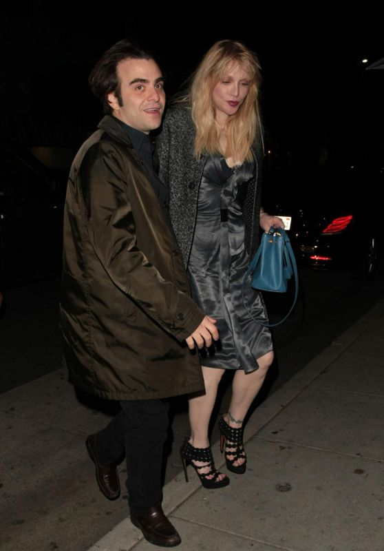 Courtney Love Night Out Style - Mr Chow