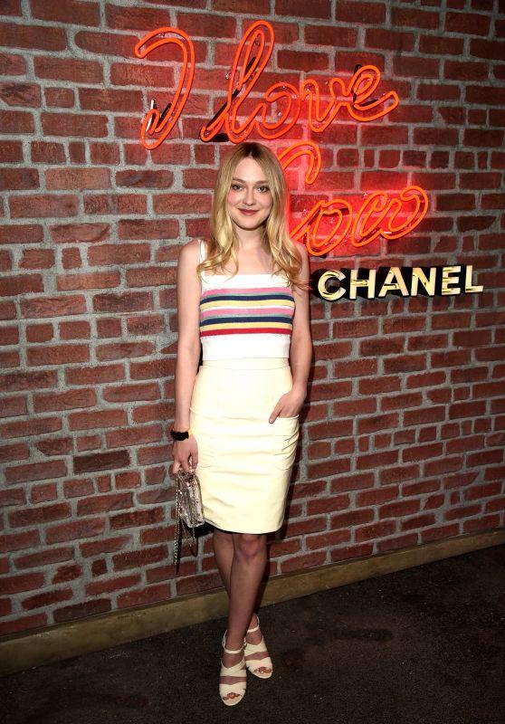 Dakota Fanning - I Love Coco Backstage Beauty Lounge in Hollywood, February 2016