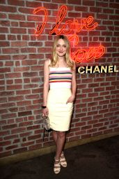 Dakota Fanning - I Love Coco Backstage Beauty Lounge in Hollywood, February 2016