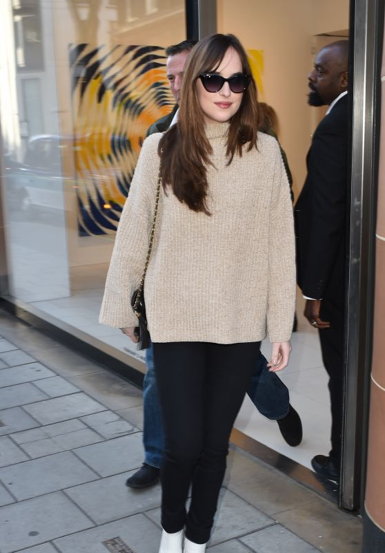 Dakota Johnson - Out in London 2/9/2016