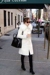 Dakota Johnson Street Fashion - Outin New York, January 2016