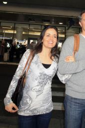 Danica McKellar Airport Style - LAX  in Los Angeles, January 2016