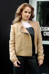 Debby Ryan - Leaving a Fashion Show in New York City 2/12/2016