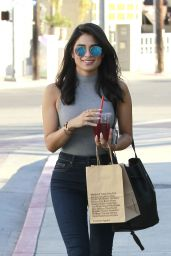 Diane Guerrero - Using a Chase ATM in West Hollywood, February 2016