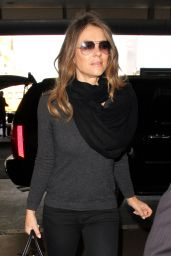 Elizabeth Hurley - LAX Airport in Los Angeles 2/22/2016