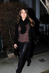 Elizabeth Hurley Night Out Style - London 2/3/2016