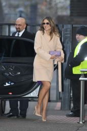 Elizabeth Hurley Style - Arriving for an Interview on the Lorraine Show in London, February 2016