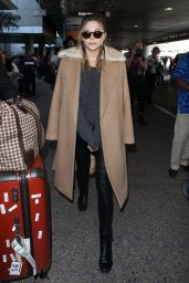 Elizabeth Olsen  Airport Style - at LAX in Los Angeles 2/25/2016