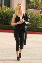 Elle Fanning in Leggigns - Going to a Gym in Studio City 1/30/2016