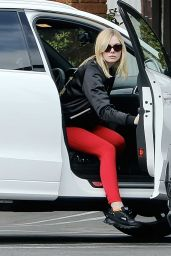 Elle Fanning in Red Tights - Out in Los Angeles, 1/30/2016