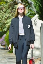 Elle Fanning Street Style - Out in Studio City 02/09/2016