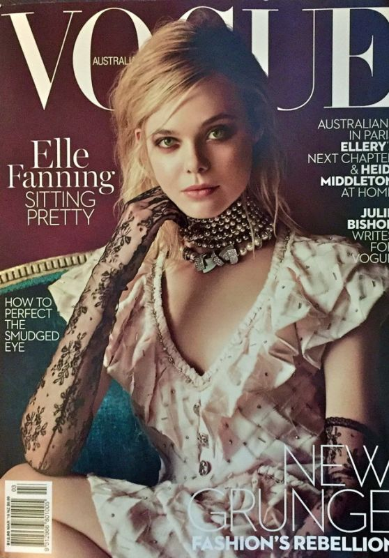 Elle Fanning - Vogue Magazine Australia March 2016 Cover