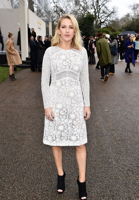 Ellie Goulding – Burberry Womenswear Show – London Fashion Week 2/22/2016