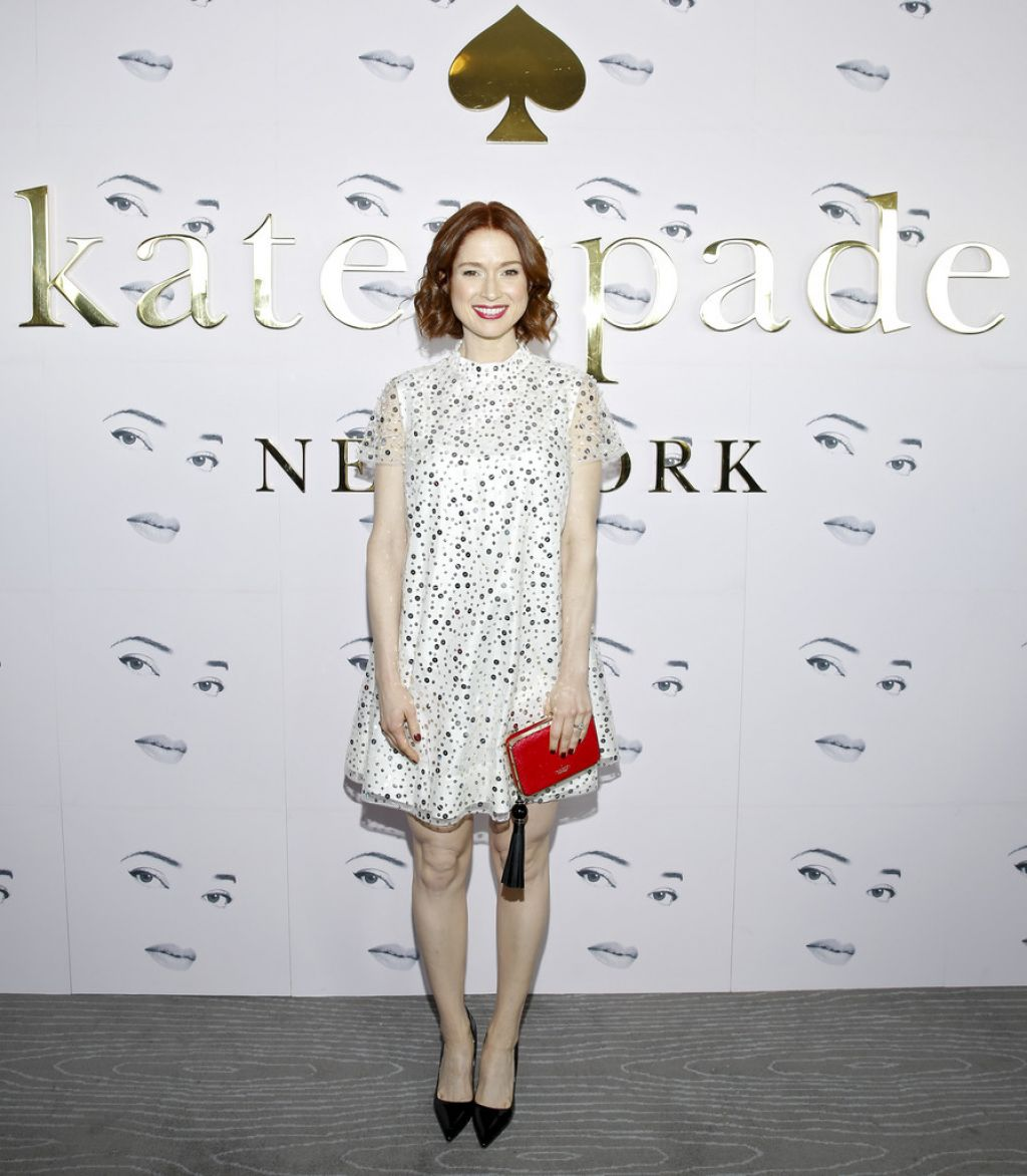 bf2d3436962c6e Ellie Kemper – Kate Spade Fashion Show in New York City 2/12/2016