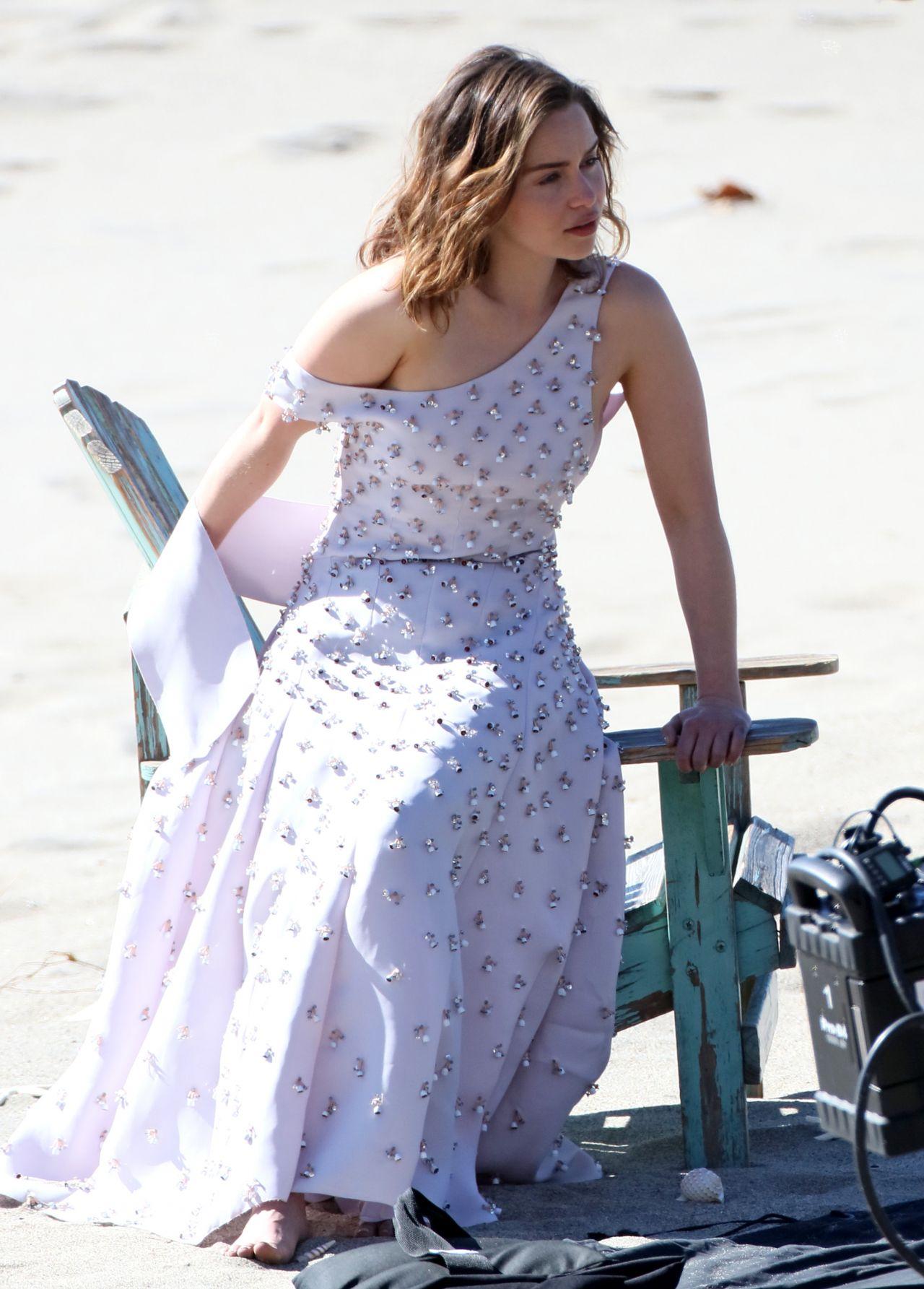 Emilia Clarke - Preparing for a Photo Shoot in Malibu 2/4/2016