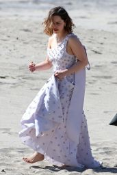 Emilia Clarke - Preparing for a Photo Shoot in Malibu 2/4/2016