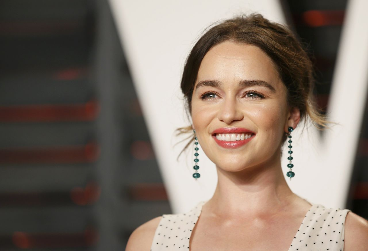 Emilia Clarke – Vanity Fair Oscar 2016 Party in Beverly Hills, CA